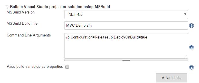 Jenkins MSBuild Config